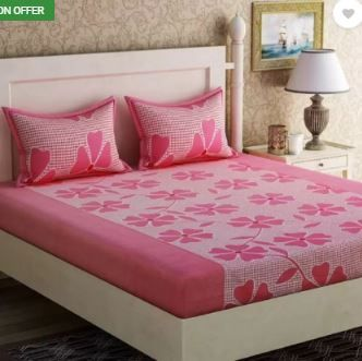 Kihome 144 TC Microfiber Double Floral Bedsheet on 87% OFF