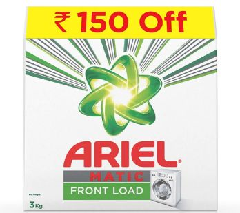 Ariel Matic Front Load Detergent Washing Powder - 3 kg at Just Rs. 419