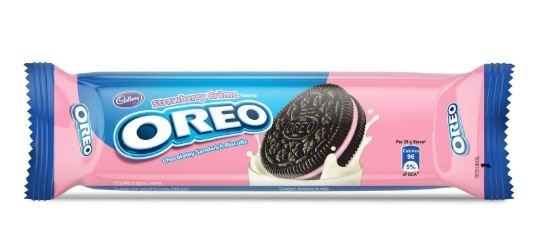 Cadbury Oreo Strawberry Crème Biscuit, 120g at Just Rs. 15