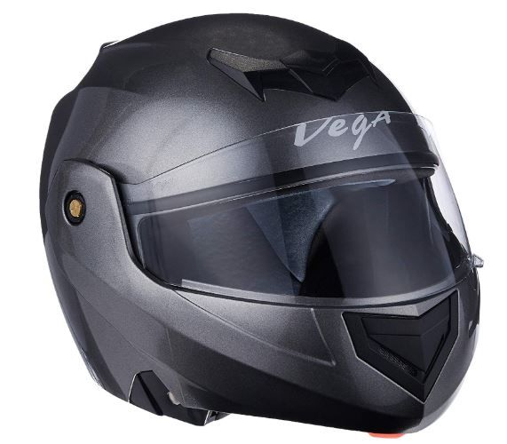 Vega Crux DX Flip-Up Helmet (Anthra, L) at Flat 44% Off