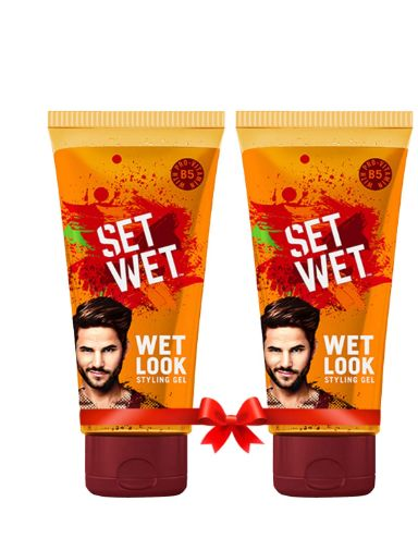 Set Wet Wet Look Hair Styling Gel for Men, 100 ml (Pack of 2) at 50% Off