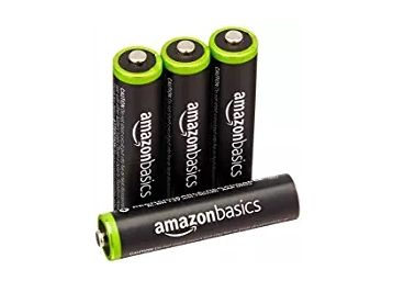 AmazonBasics 4 Pack AAA Ni-MH Pre-Charged Rechargeable Batteries, 1000 Cycle (Typical 800mAh, Minimum 750mAh) at Just Rs. 479