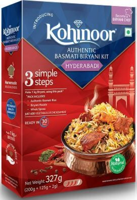 Kohinoor Authentic Basmati Biryani Kit, Hyderabadi, 327g at Just Rs. 62