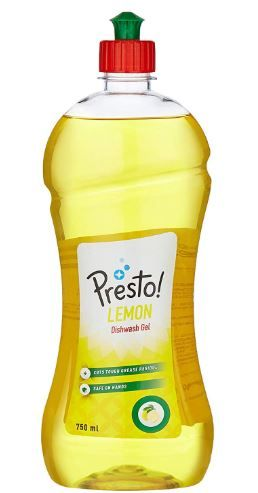 Amazon Brand - Presto! Dish Wash Gel - 750 ml (Lemon) at Just Rs. 77