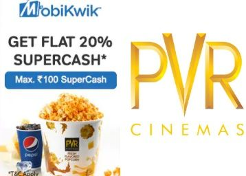 Get Flat Rs.100 Off On PVR With Mobikwik