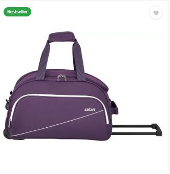 Safari 65 inch/165 cm PURPLE TROLLEY DUFFEL BAG Flat 72% Off