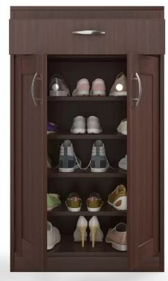 HomeTown Engineered Wood Shoe Rack (Brown, 5 Shelves) at 74% Off