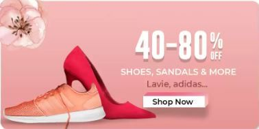 Min. 40% - 80% Off on Branded Shoes and sandals From Rs.89