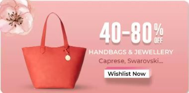 Min. 40% - 80% Off on Handbag and Jewellery From Rs.86