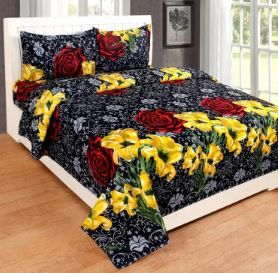 Red Bear 190 TC Cotton Double Floral Bedsheet on 88% Off