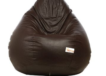 Classic XXXL Bean Bag with Beans in Brown color by Sattva at Just Rs. 758