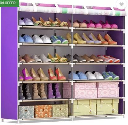 FurnCentral Fabric Shoe Stand  (12 Shelves) on 78% Off