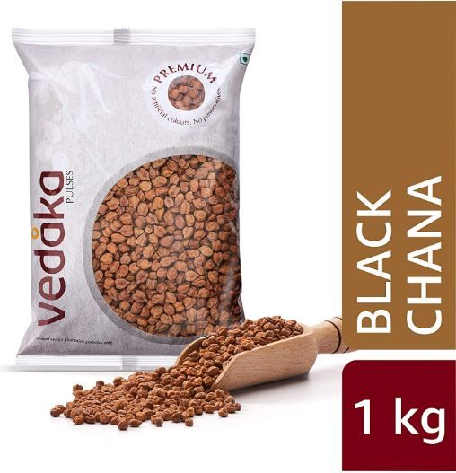 Amazon Brand - Vedaka Premium Black Chana, 1 kg on 58% off