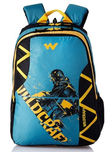Wildcraft Polyester 35 Ltrs Blue and SB School Backpack on 58% off