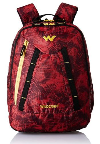 Wildcraft Polyester 32 Ltrs Red School Backpack on 54% off