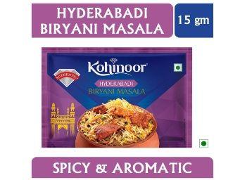 Kohinoor Hyderabadi Biryani Masala, 15g At Rs.10
