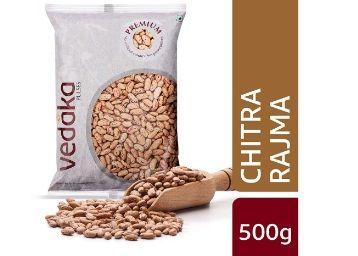 Amazon Brand - Vedaka Premium Chitra Rajma, 500g At Rs.39