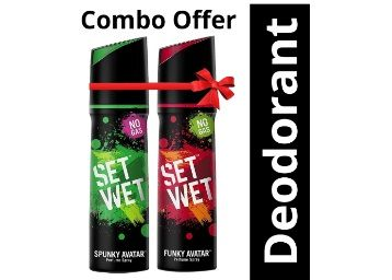 Set Wet Perfume, 120ml (Spunky and Funky Avatar, Pack of 2) At Rs.176