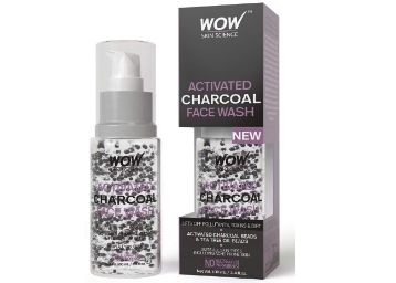 Apply 15% Code- WOW Activated Charcoal Face Wash with Activated Charcoal Beads at Rs. 119