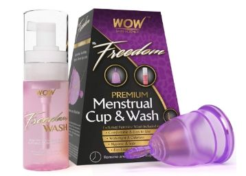 Apply 15% Code: Wow Freedom Reusable Menstrual Cup and Wash Pre Childbirth Rs. 354