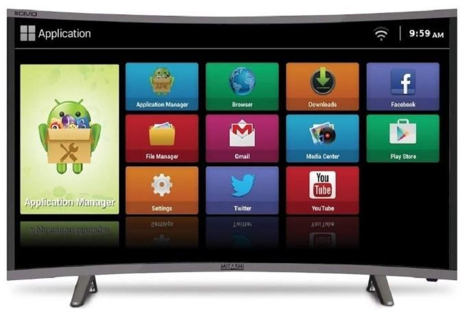 Mitashi 80.01 cm (31.5 Inches) Curved HD Ready LED Smart TV on 54% Off