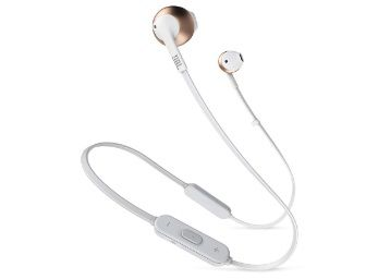 JBL T205BT Pure Bass Wireless Metal Earbud Headphones with Mi on 20% Off