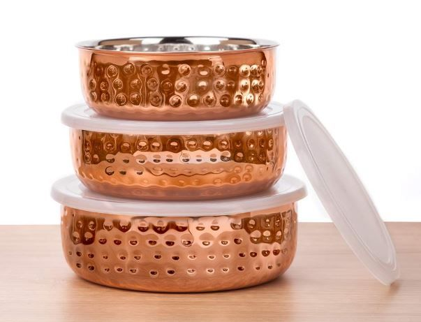 SignoraWare Stainless Steel Container Set, 3-Piece, Copper on 52% off
