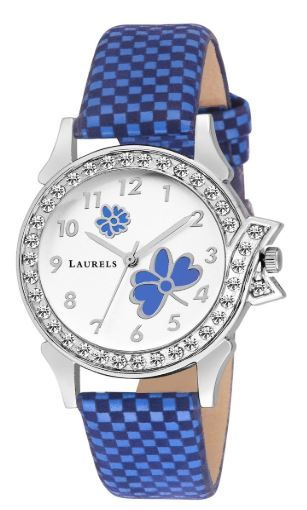Laurels Analogue Bettle White Dial Women
