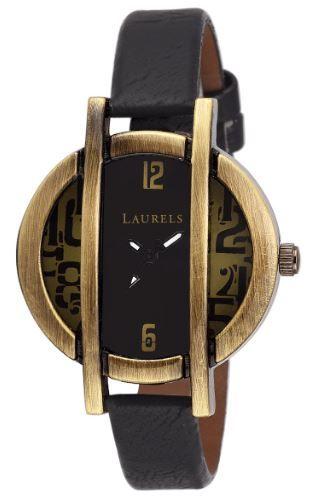 Laurels Chloe Black/Gun Metal Dial Analog Wrist Watch - For Women on 84% off