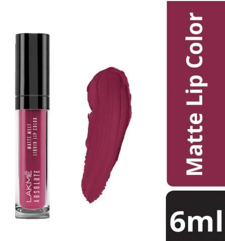 Lakme Absolute Matte Melt Liquid Lip Color, Mulberry Feast, 6ml on 30% off