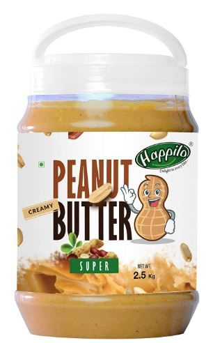 Apply 25% Coupon - Happilo Super Peanut Butter, Creamy, 2.5kg