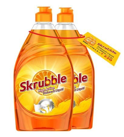 Skrubble High Action Dish Wash Liquid - 500 ml (Pack of 2) on 50% off