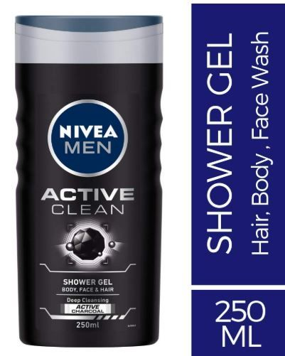 Nivea Men Active Clean Shower Gel, 250ml on 30% off