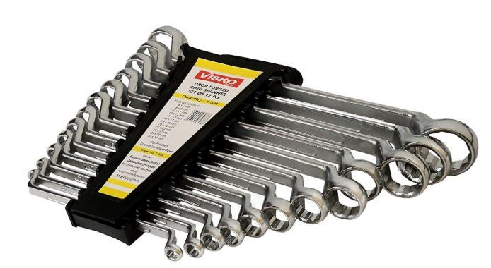 Visko Tools S029 12 PCs Ring Spanner Set on 65% off