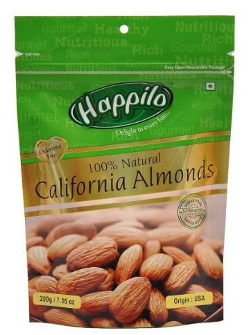 Flat 20% off on Happilo 100% Natural Premium Californian Almonds, 200g