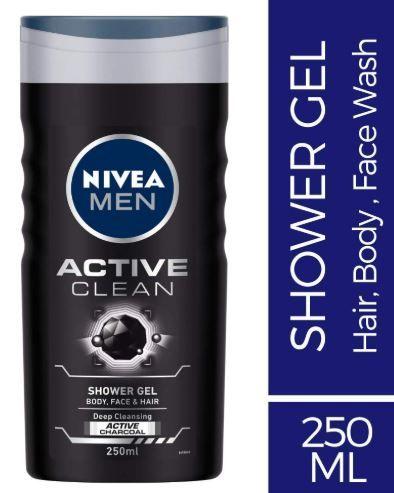 Flat 37% off on Nivea Men Active Clean Shower Gel, 250ml