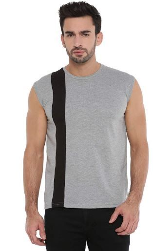 Flat 78% off SAYITLOUD Solid Men Round Neck Vest