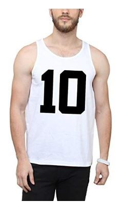 Flat 78% off on SAYITLOUD Printed Men Round Neck Vest