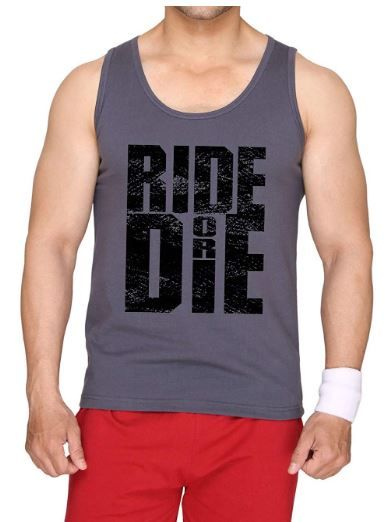 Flat 72% off on SAYITLOUD Ride Or Die Grey Color Vest