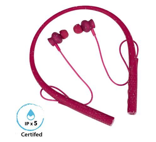 Flat 44% off boAt Rockerz 275 Sports Bluetooth Wireless Earphone with Stereo Sound and Hands Free Mic (Intense Pink)