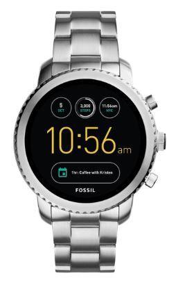 Flat 40% off on Silver-Toned Q Exploris Touchscreen Smart Watch