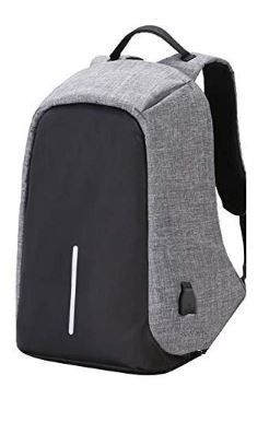 Flat 82% off on Rewy Fabric Anti-Theft Water Resistant Computer USB Charging Laptop Backpack