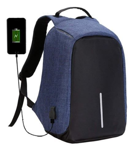 Flat 82% off on Zipito Fabric Anti-Theft Water Resistant Bag with Computer USB Charging Laptop Backpack