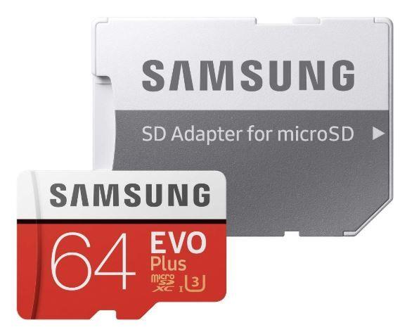 Flat 60% off on Samsung EVO Plus Grade 3, Class 10 64GB MicroSD