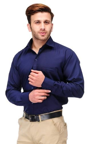 Min. 60% Off on Koolpals Cotton Blend Formal Solid Shirt
