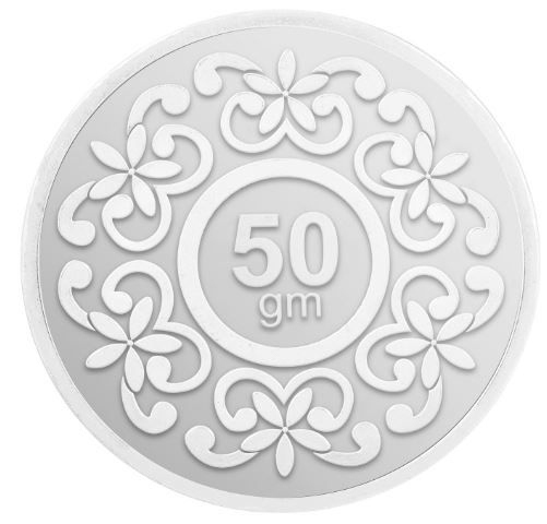 Flat 47% off on IBJA Gold 50 Gm, (999) Silver Precious Coin