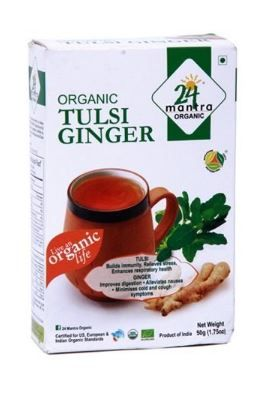 Flat 50% off on 24 Mantra Organic Tulsi Ginger Tea, 50g
