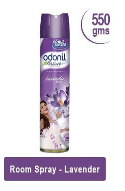 Flat 50% off on Odonil Room Spray Home Freshener, Lavender Mist - 550 g