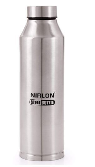 Flat 54% off on Nirlon Stainless Steel Freezer Water Bottle, 1 Piece, 800Ml