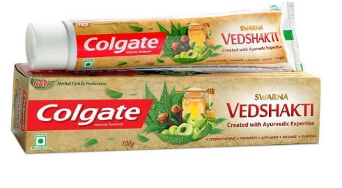 Colgate Swarna Vedshakti Toothpaste - 100gm at Just Rs. 23